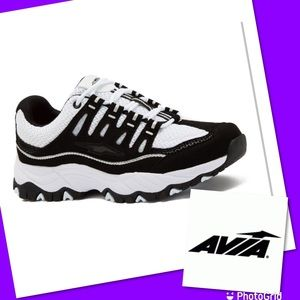 Avia black & white sneakers 9 shoes
